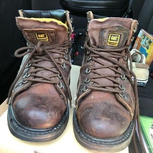 CAT Brown Work Bots Size 10
